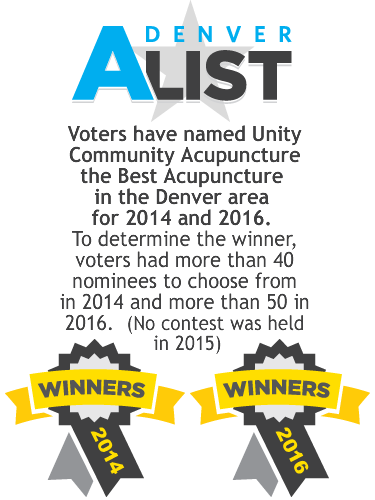 Voters named Unity Acupuncture the best acupuncture in the area